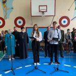 В Марьиной Горке в школьных линейках приняли участие священнослужители